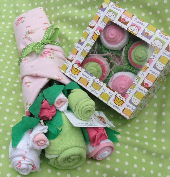 Unique Baby Shower Gift Ideas Clothes : Items similar to baby girl gift set clothing flower