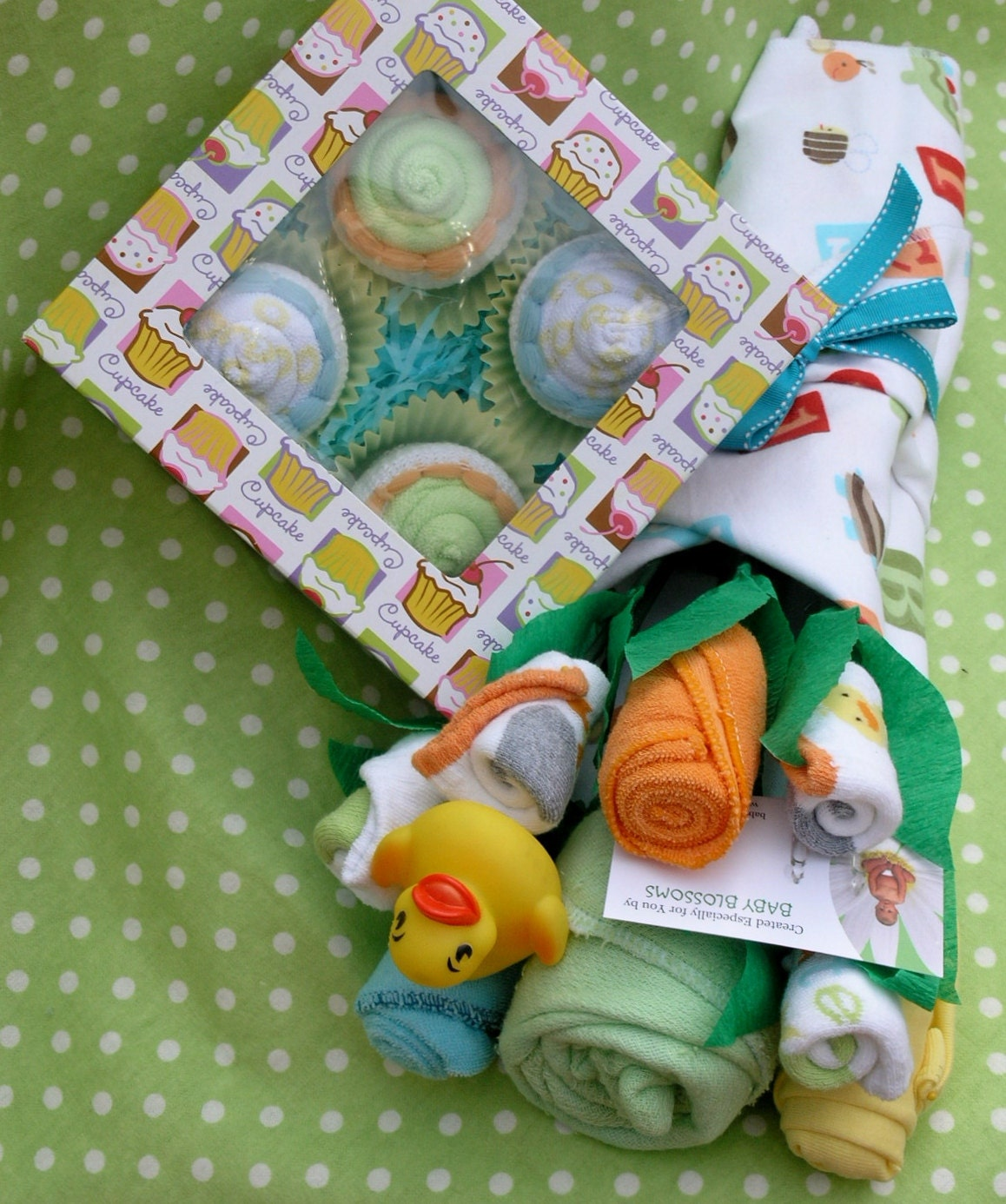Neutral Baby Gift Sets : Gender neutral baby gift set basket for by