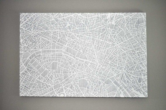 "paris stretched canvas print, 30""x20"", 50% off"