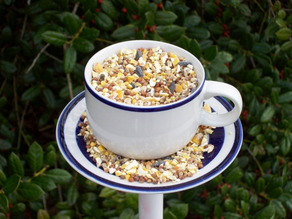 Cup and saucer birdfeeder poke