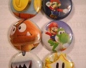 Super Mario Bros 1inch Buttons
