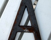 Industrial Metal Letter A