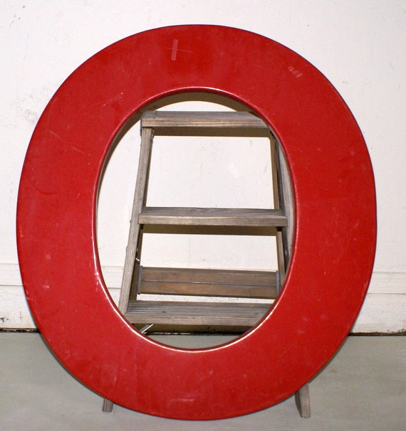 30 Inch Industrial Red Letter O