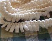 Vintage 1950s Cotton Trim ..... Primitive Little Fringe ... 5 1/2 Yards