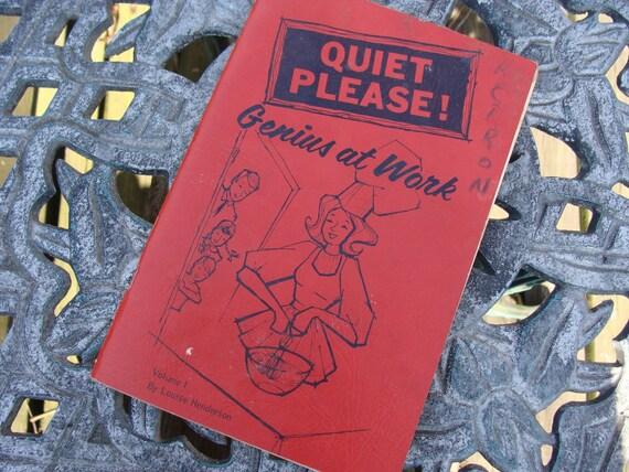 1960s Cookbook .... Quiet Please Genius at Work