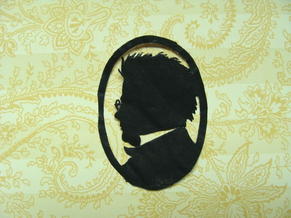 Antique 1930s German Diecut Silhouette ..... Interesting Man ..... For your collage .... scrapbook .... next project