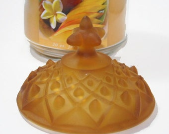 Depression Glass Amber Period Glass Cover Replacement Lid