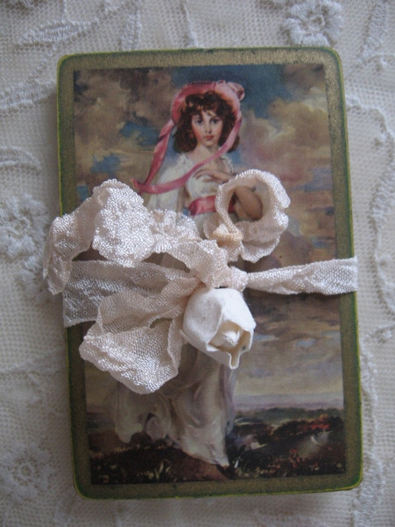SALE Vintage Playing Cards - Valentine - Sweethearts