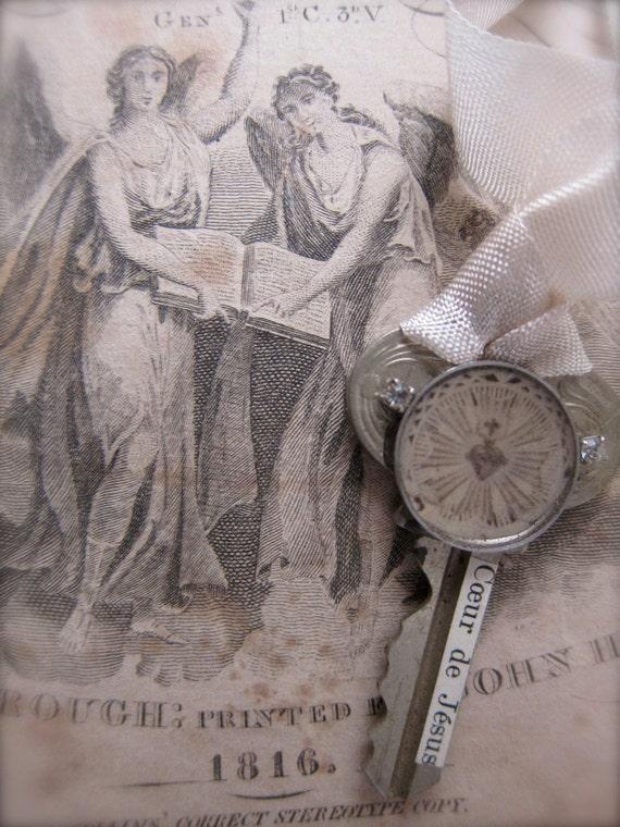 SALE Vintage Key Necklace - Pendant - Charm- Tag