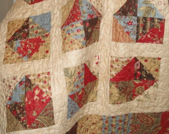 Arebella Quilt Pattern, using Charm Squares