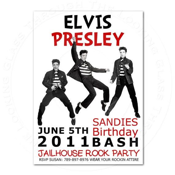 You Print Elvis Presley Birthday Party Hollywood Etc