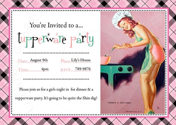 Printable personalize pinup invitation by TTLGphotoANDgraphics