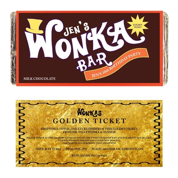 Intrepid image with regard to wonka bar printable