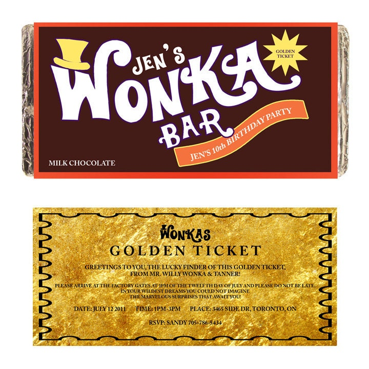 Smart image inside wonka bar printable