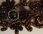 Victorian Beaded Lace Bronze Trim