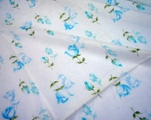 Vintage Fabric - Blue Cottage Roses - Almost 3 Yards