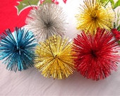 Vintage Starburst Tinsel Ornaments