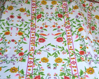 Vintage Fabric - Chambord Rose Trellis - 50 Inches Wide -  By the Yard