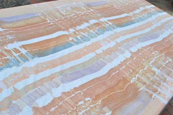 Vintage Bed Sheet - Painted Desert - Full Flat