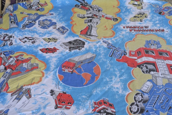 Vintage Bed Sheet - Transformers - Twin Fitted