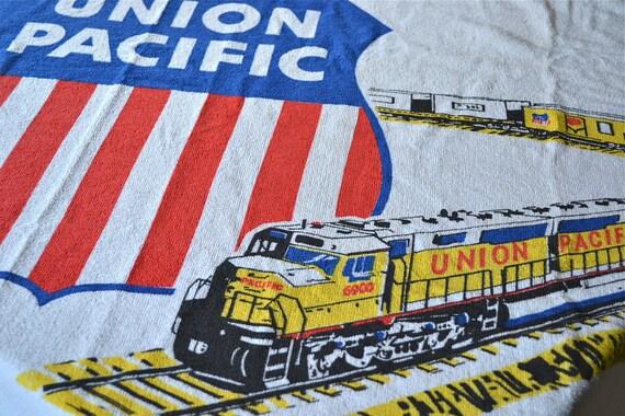 Vintage Terry Cloth Beach Towel - Union Pacific Railroad