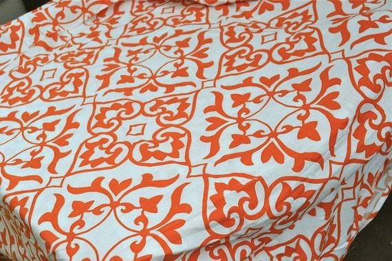 Ikea Fabric Duvet - Turkish Tangerine Orange Design - Full to Queen