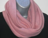 Mauve Sweater Knit Cowl Scarf