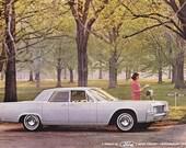 Vintage ad 1965 Lincoln Continental luxury car retro automobilia Mad Men style - Free U.S. shipping