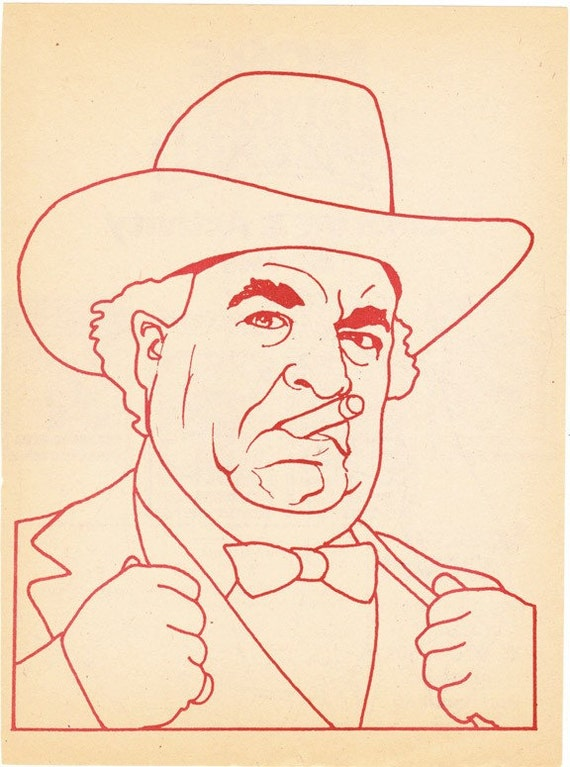 Boss Hogg coloring book page Dukes of Hazzard Sorrell Booke corrupt politician - Free U.S. shipping