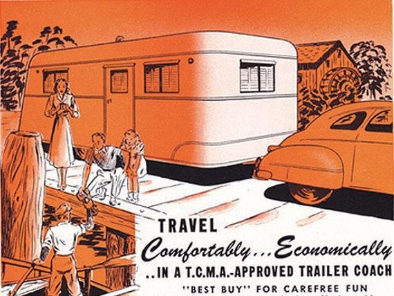 1948 ad Camper Trailer Caravan Vardo Coach vintage TCMA - Free U.S. shipping