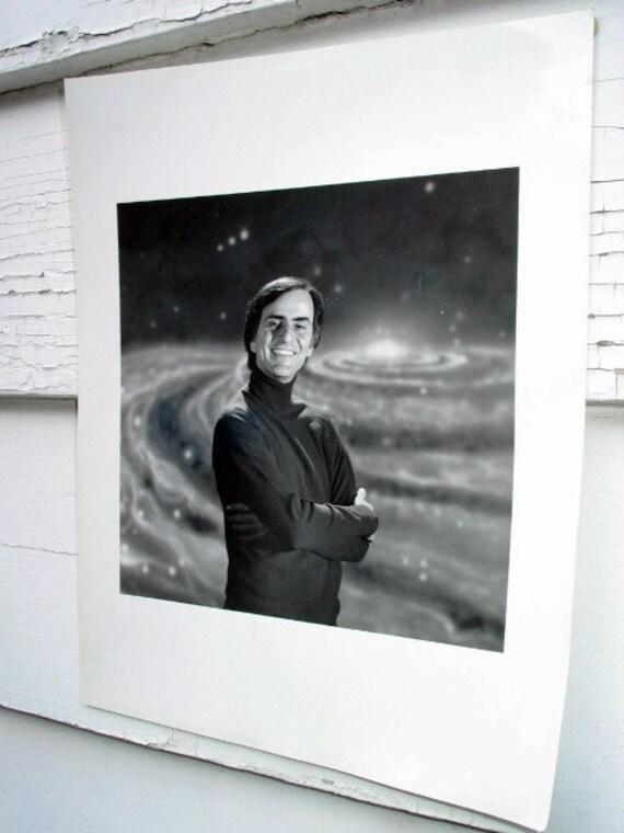 Photo Carl Sagan portrait copy print Cosmos astronomy science space - Free U.S. shipping