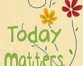 Inspiring art positive words wall art today matters flowers wall hanging room decor