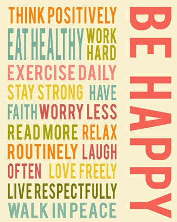 Happy Positive Quotes Endearing Be Happy Positive Life Quotes Typography Quote Inspirational