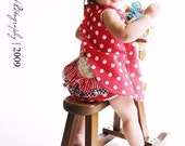 Reversible Snap Pinny Dress with Bloomers PDF Pattern 0mth - 24mth