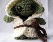 Crocheted Yoda Amigurumi Doll