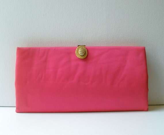 Vintage 50s Mad Men Magenta Pink Clutch