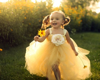 Sweet Buttercup Tutu Dress