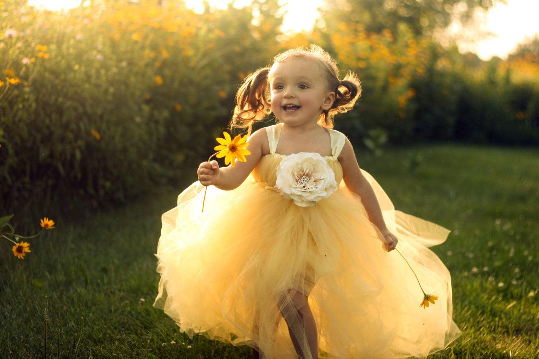 Sweet Buttercup Tutu Dress