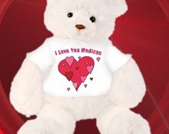 Teddy Bear with Personalized Shirt