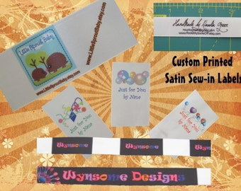 Satin Sew-in Labels - Custom Printed