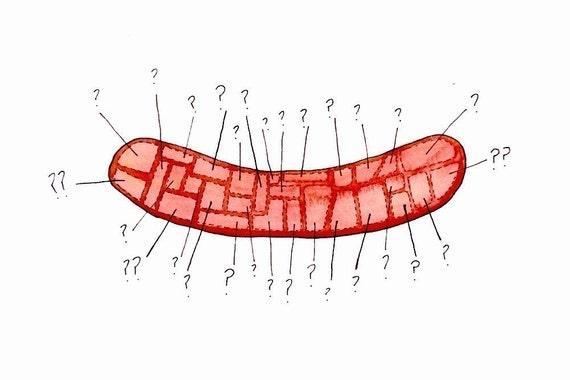 hot dog mystery - 5x7 print