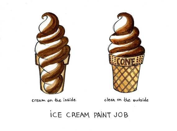 Ice Cream Paint Job Yeah That One Print By Drywell On Etsy