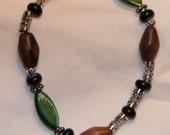 Custom black and brown bracelet for L Mick
