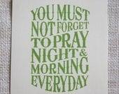5x7 Green Pray- Granny Smith Green