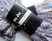 Lavender Multi Color Two Skeins of Za Za Stacy Charles Designer Yarn 2 Balls Wild Zig Zag Ribbon Lilac Mix