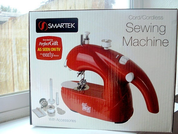 Mini Sewing Machine New Unopened Cord or Cordless with Accessories for Sewing Repairs Small Projects - AWESOME Gift Idea Plus a FREE GIFT