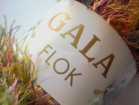 Gala Flok Rainbow Fluff Novelty Art Faux Fur Designer Yarn Destash Fluffy Fun