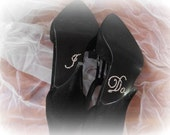 Rhinestone Crystal I Do Shoe Sticker  Silver