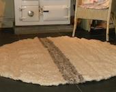Custom Order For Leah 5ft Circular Peg Loom Rug