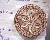 Handmade Pottery Sand Dollar Magnet